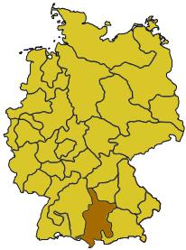 Karte bistum augsburg