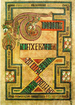 book of kells detail. No higher resolution available