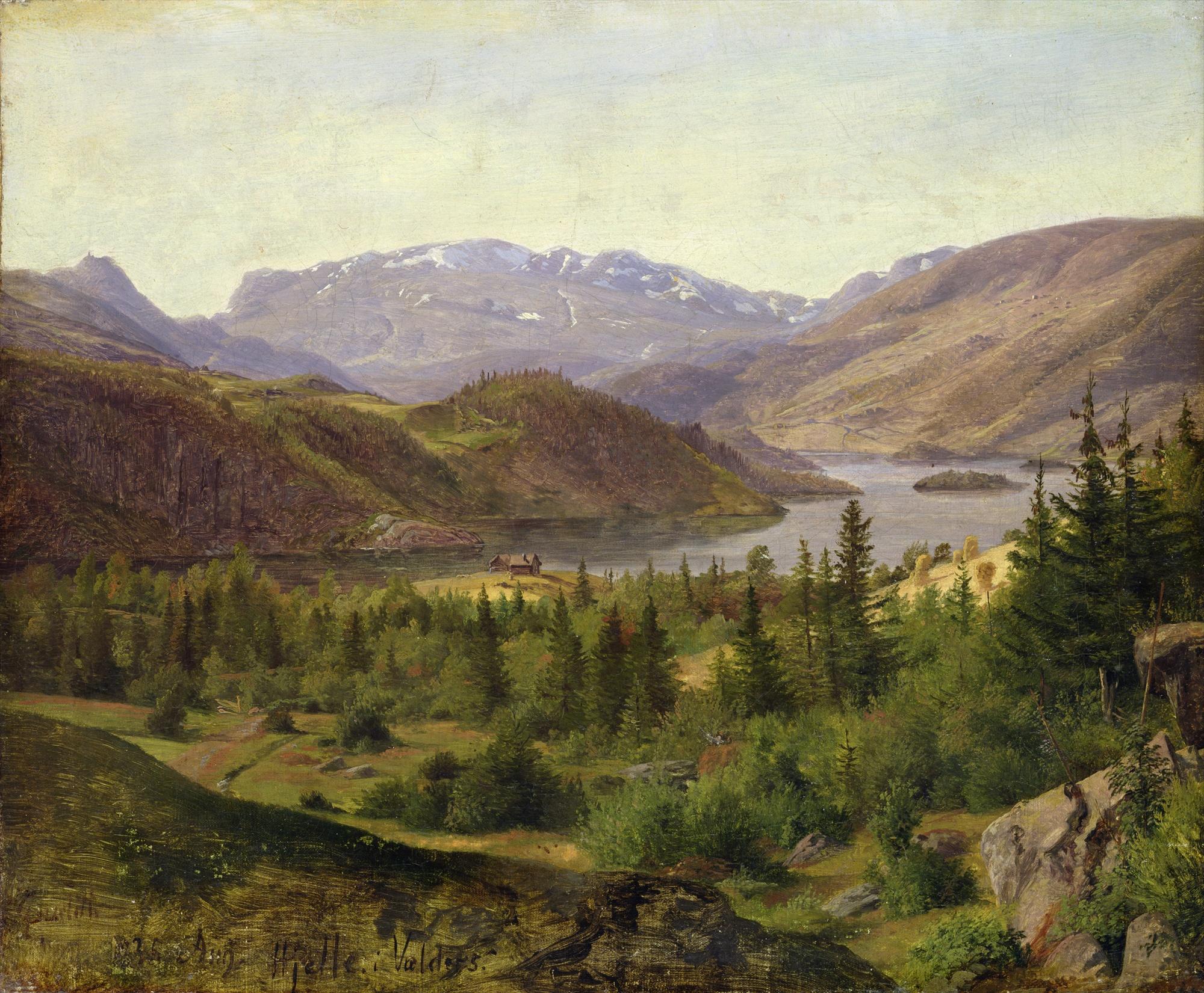 File:Louis Gurlitt - Hjelle in Valders, Tile Fjord.jpg ...