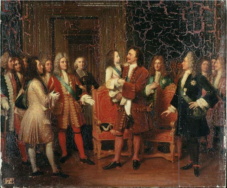 Fichier:Louis XV enfant visite le Tsar Pierre Ier à l'hôtel de ...