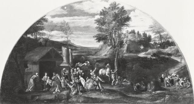 File:Lunette Aldobrandini, Adorazione dei Magi - Doria Pamphili.jpg
