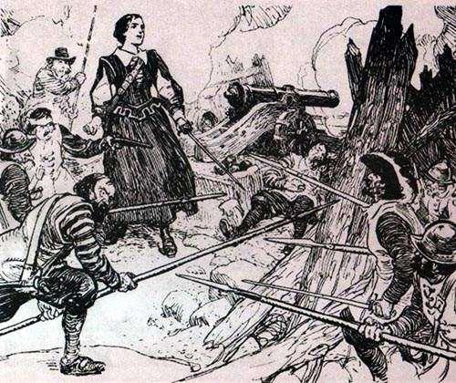 Fichier:Madame La Tour Defending Fort St.Jean.jpg