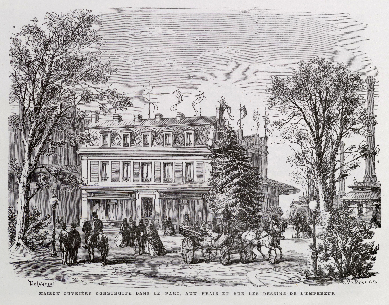 File maison ouvri re construite dans le parc aux frais et sur les dessins de - Frais sur achat maison ...