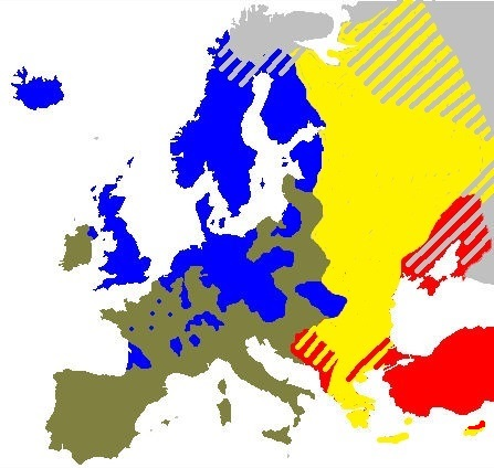 catholic vs protestant europe map File:Map of Catholicism, Protestantism, Orthodoxy and Islam in
