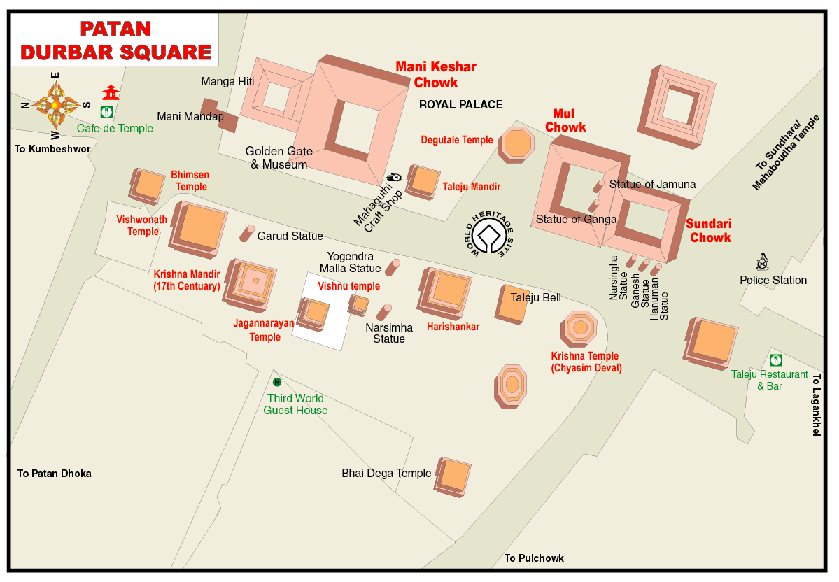 Ktm Wikipedia >> File:Map of Patan Durbar Square.jpg - Wikimedia Commons
