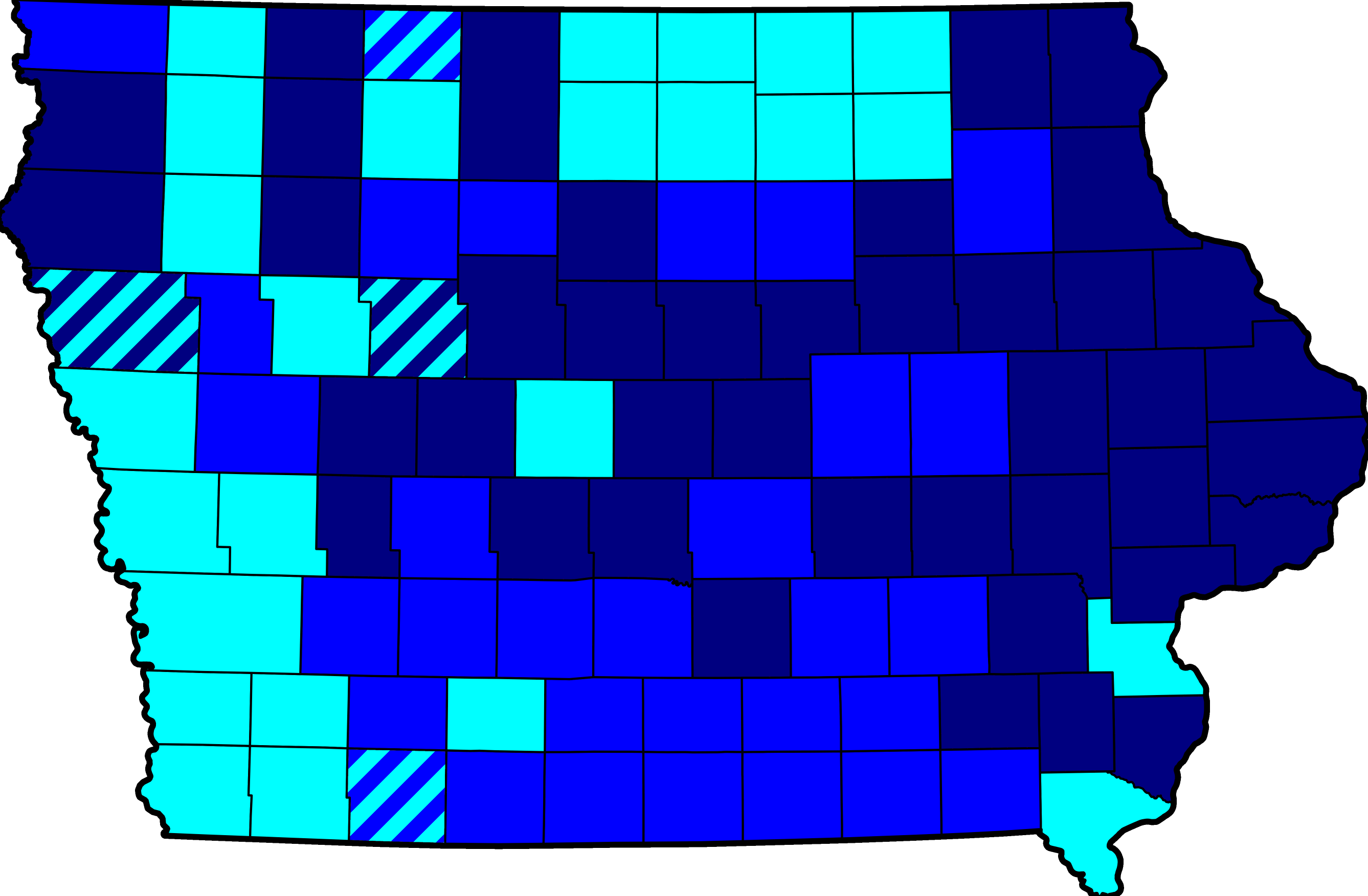 FileMap Of Results Of Iowa Democratic Caucuses 2008