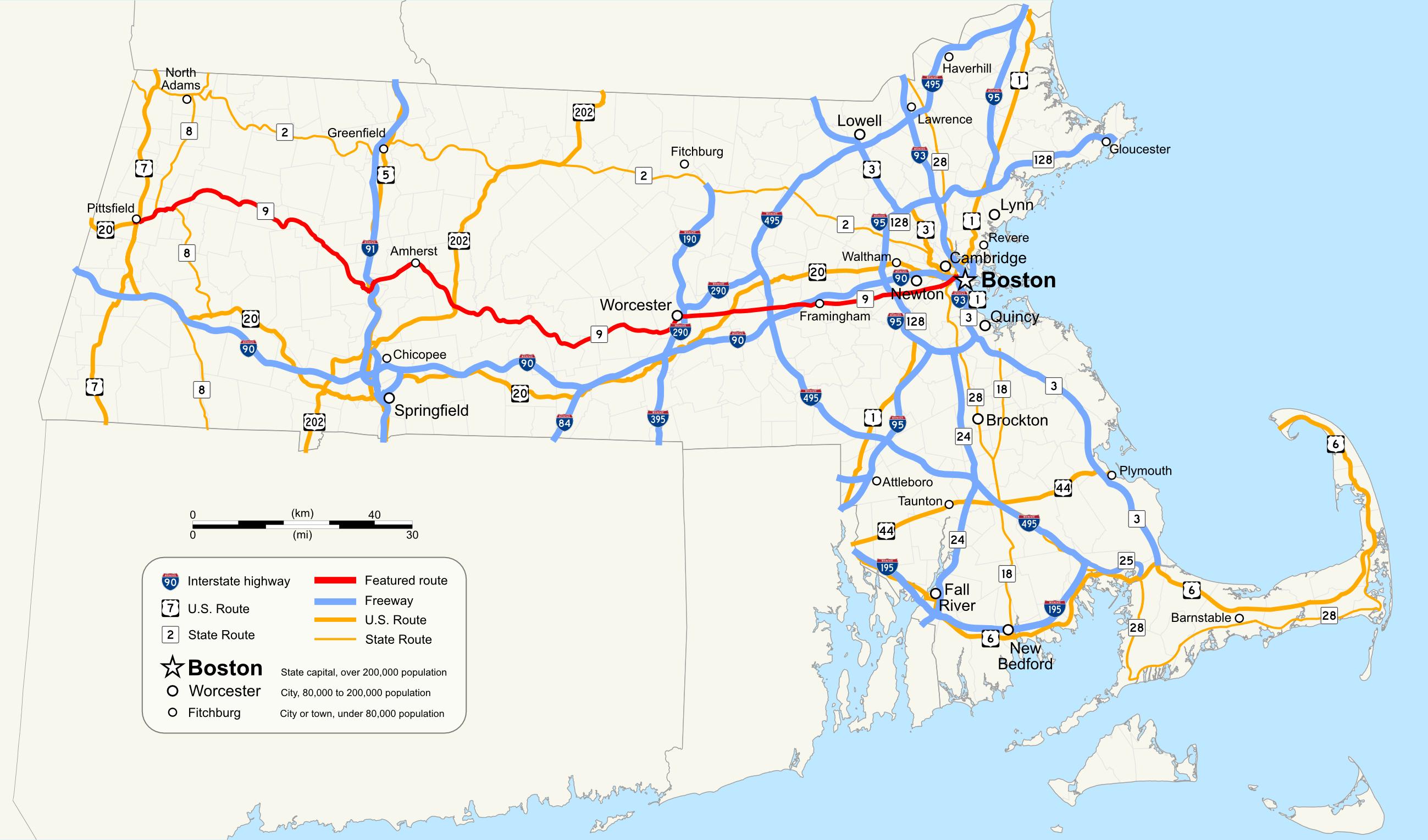 Massachusetts Route 9 - Wikipedia