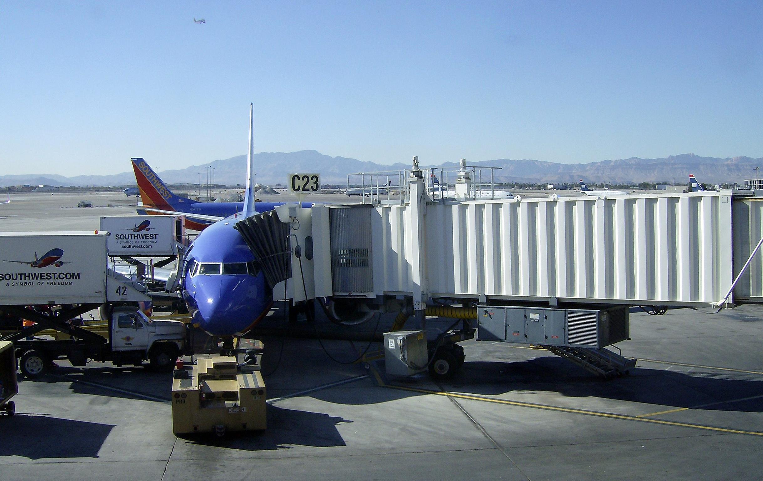 Southwest Airlines passenger gates