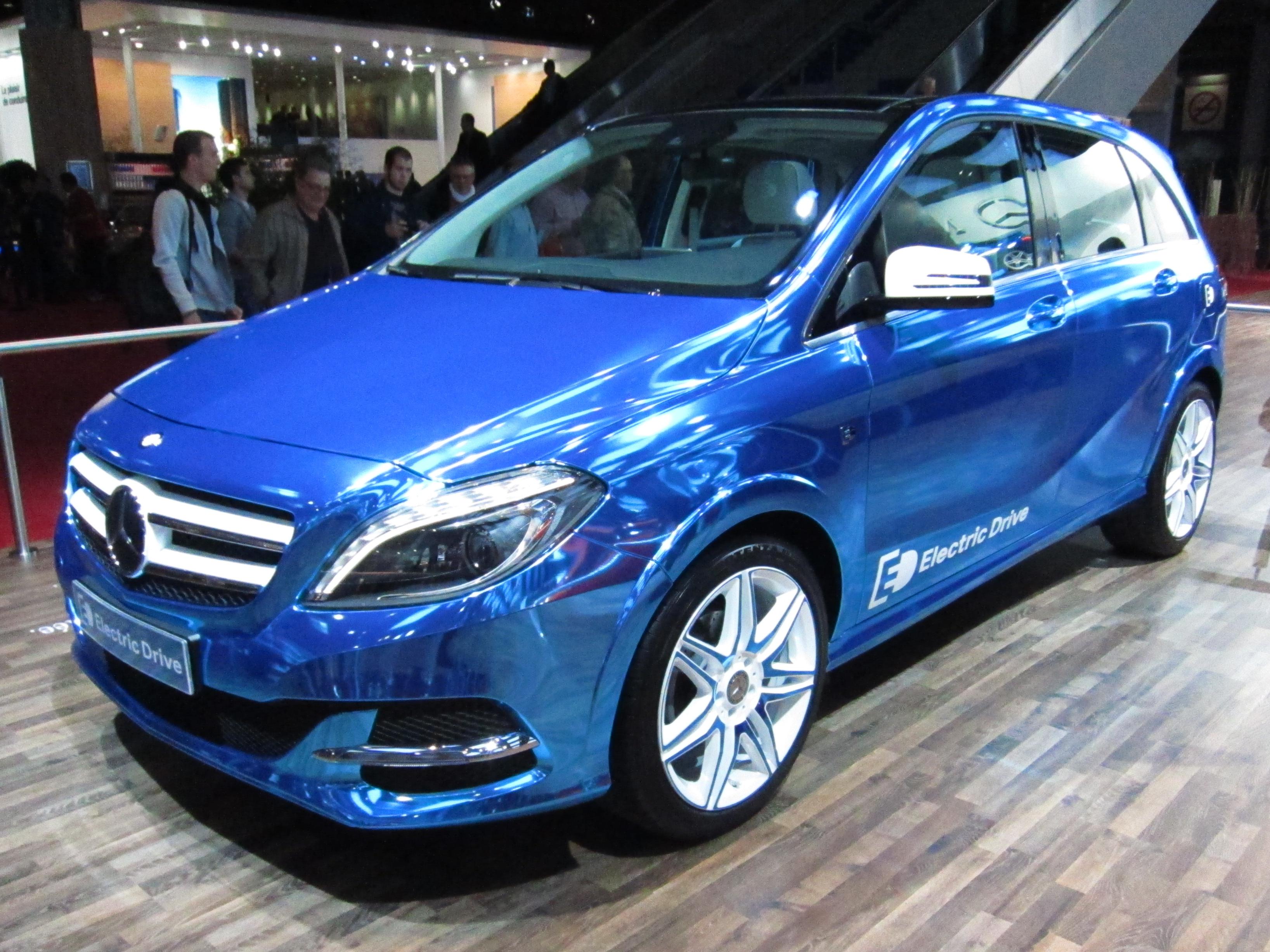 File:Mercedes Benz B Class Electric Drive (front Quarter).JPG