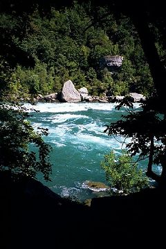 Niagara Glen features many rapids downstream o...