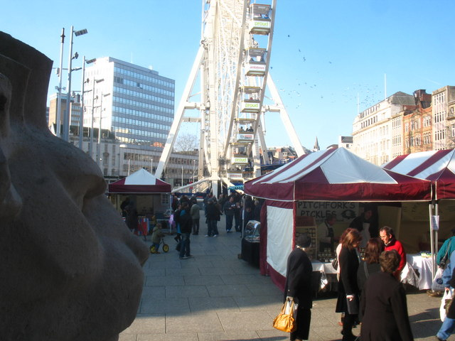 File:Nottingham Eye and market in The Old Market Square - geograph.org.uk - 1310110.jpg