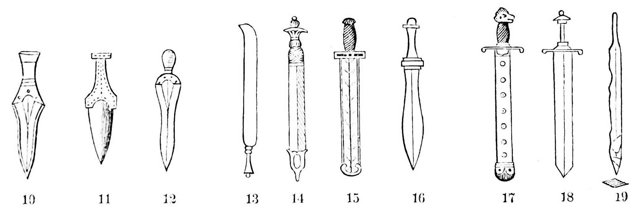 Description PSM V21 D088 Swords and daggers of the ancient world jpgAncient Egyptian Swords And Daggers