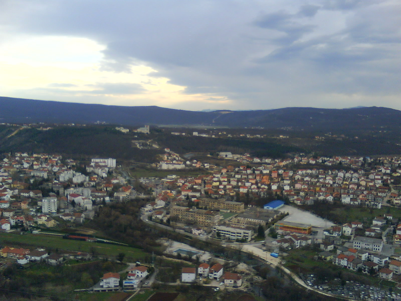 panorama view of Siroki-Brijeg, Herzegovina