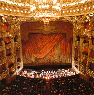 The Palais Garnier, view of the scene Paris Opera interior.jpg