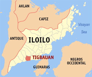 Map of Iloilo showing the location of Tigbauan