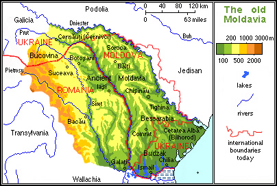 The ancient principality of Moldavia comprised the entire Moldavian Plateau and some neighbouring geomorphological units like the Carpathians