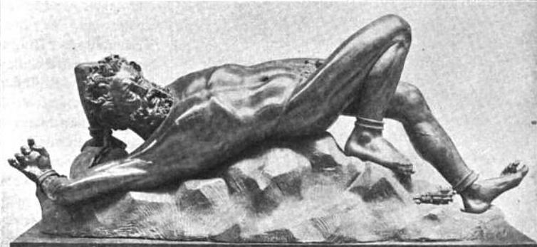 Prométhée enchaîné sur le mont Caucase, Paul Bouré, 1845