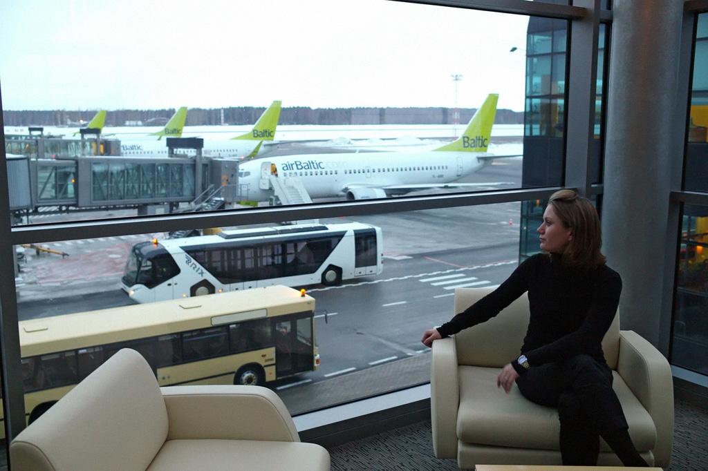 Dans l'aéroport de Riga en Lettonie. Photo de Igor Zarembo / Игорь Зарембо