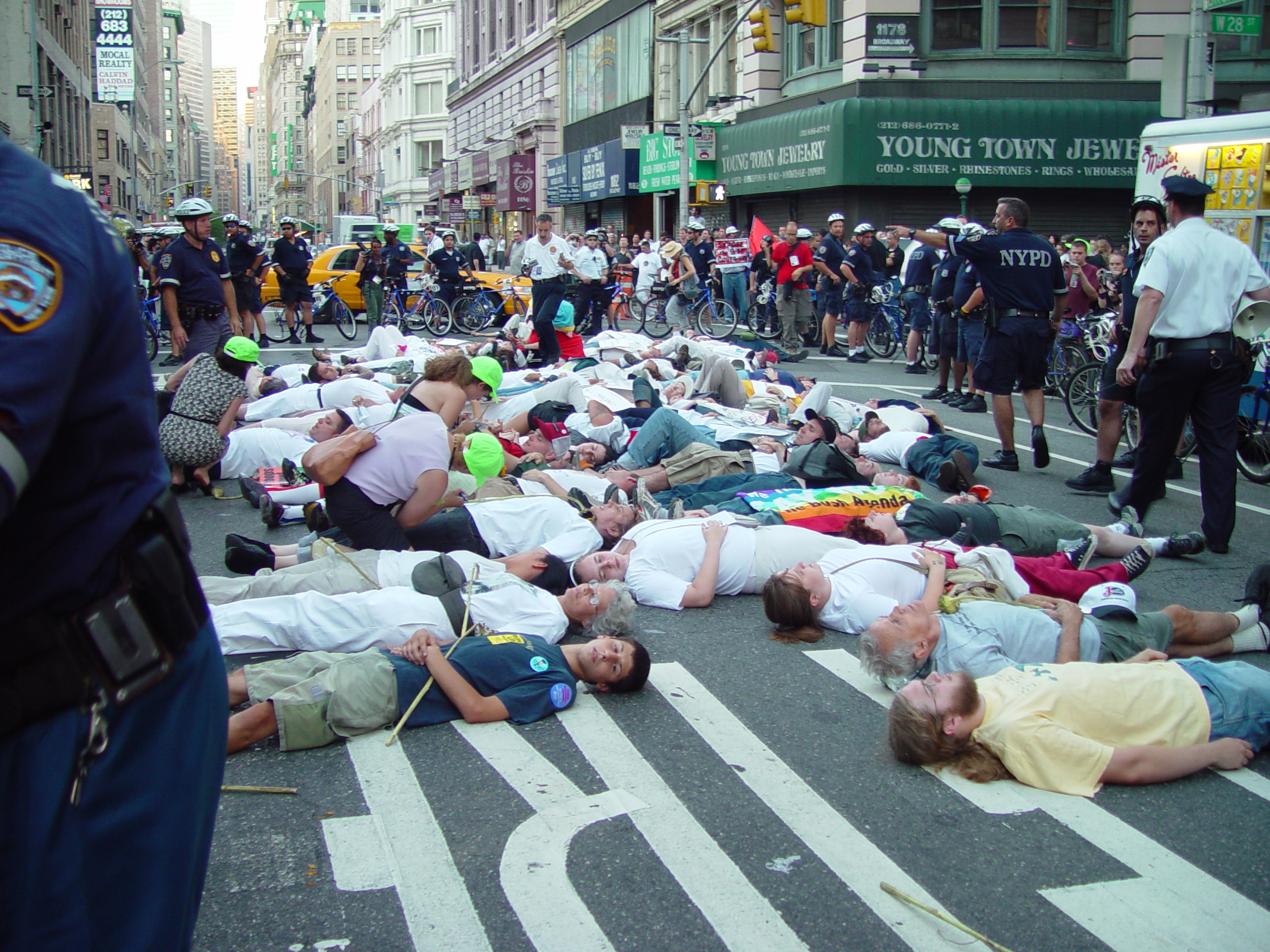 RNC Protesters in streets of New York