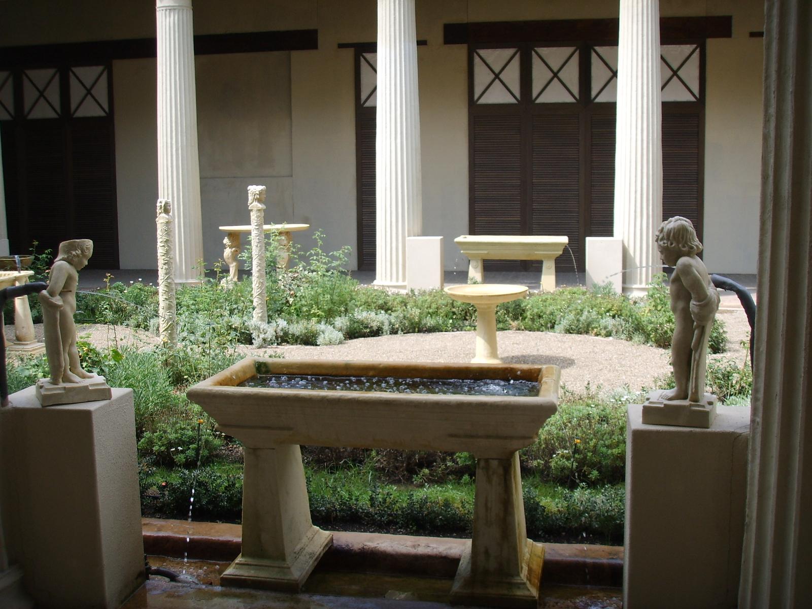 File ricostruzione del giardino della casa dei vetii di for Design giardino casa