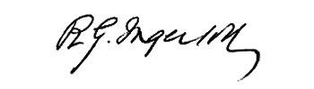 Robert G. Ingersoll signature
