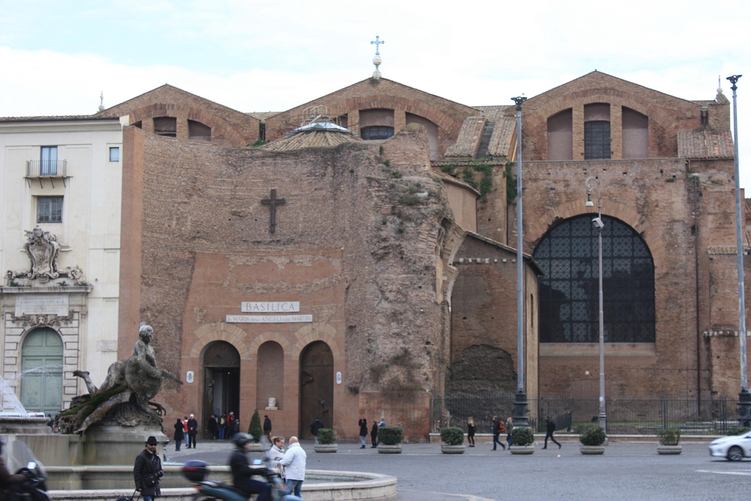 Lampadario Antico Con Angeli : Basilica di santa maria degli angeli e dei martiri wikipedia