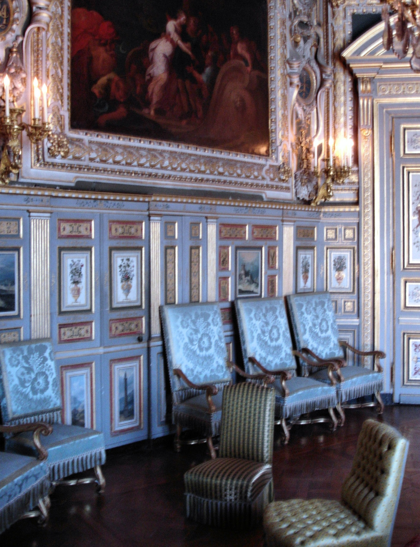 File salon louis xiii chambre ovale ch teau de for Chambre louis 13