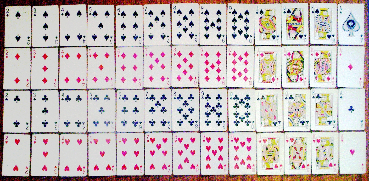 File set of playing cards 52 jpg