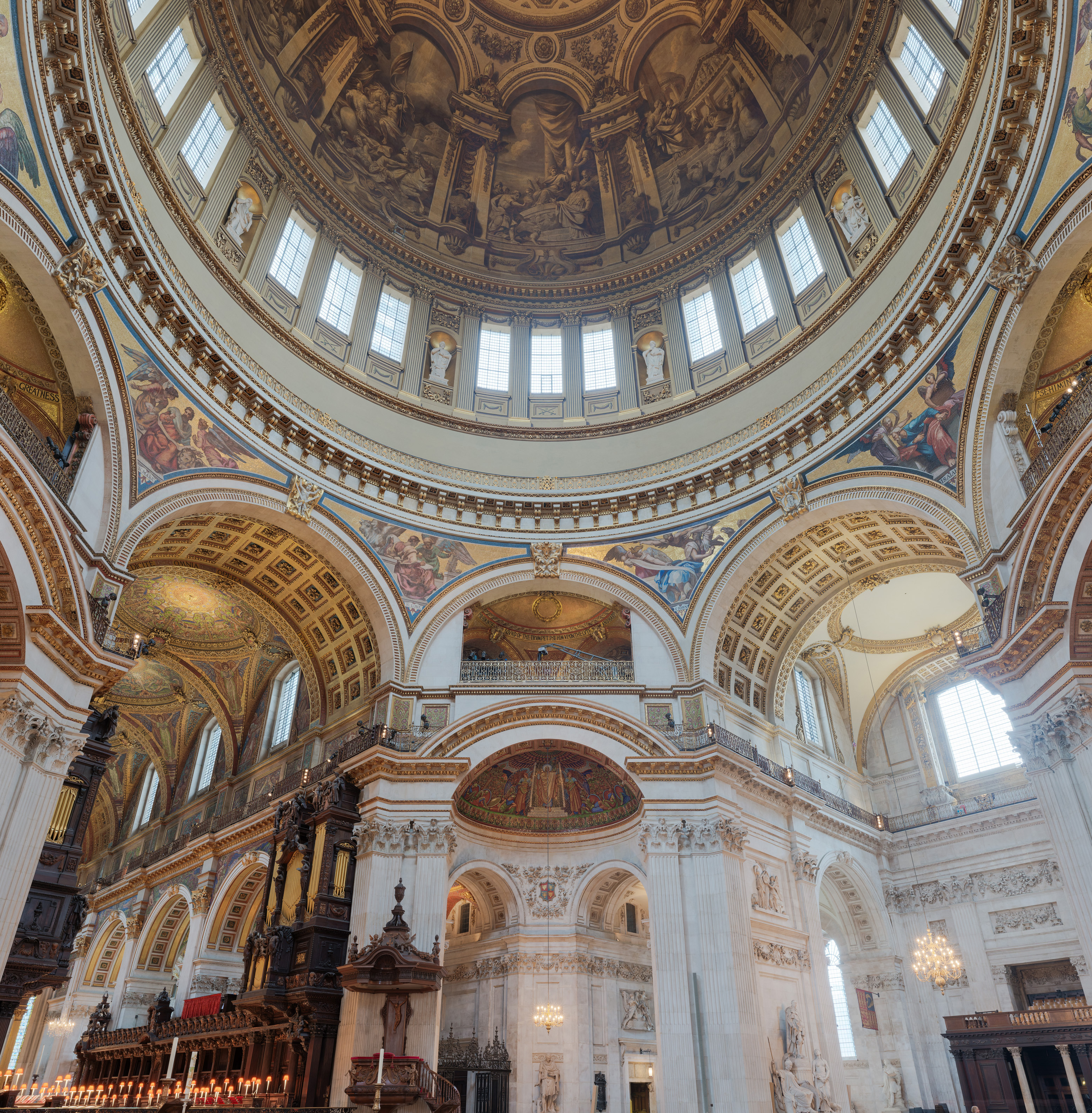File st paul 39 s cathedral interior dome 2 crop london uk for English baroque architecture