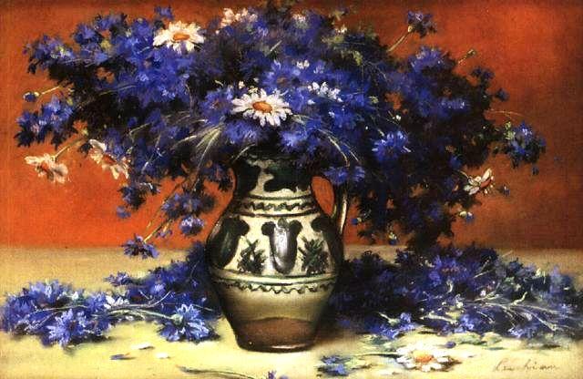 Kornblume Centaurea cyanus in der Kunst