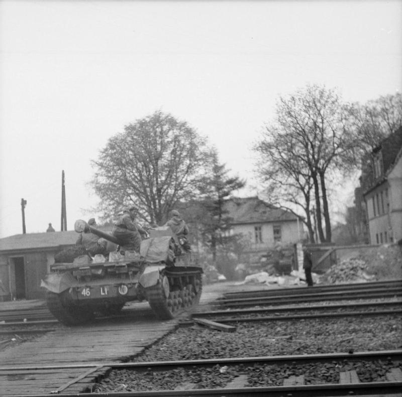 An Archer crossing a railway line in Celle