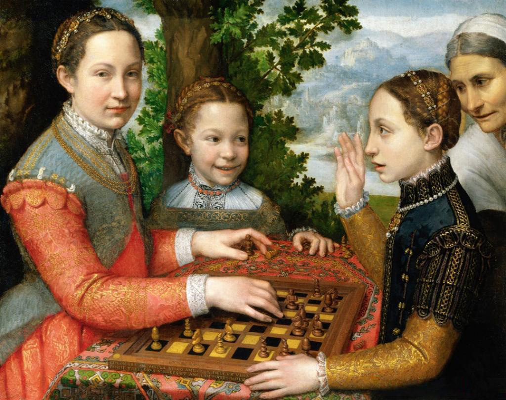 The Chess Game (1555), by Sofonisba Anguissola