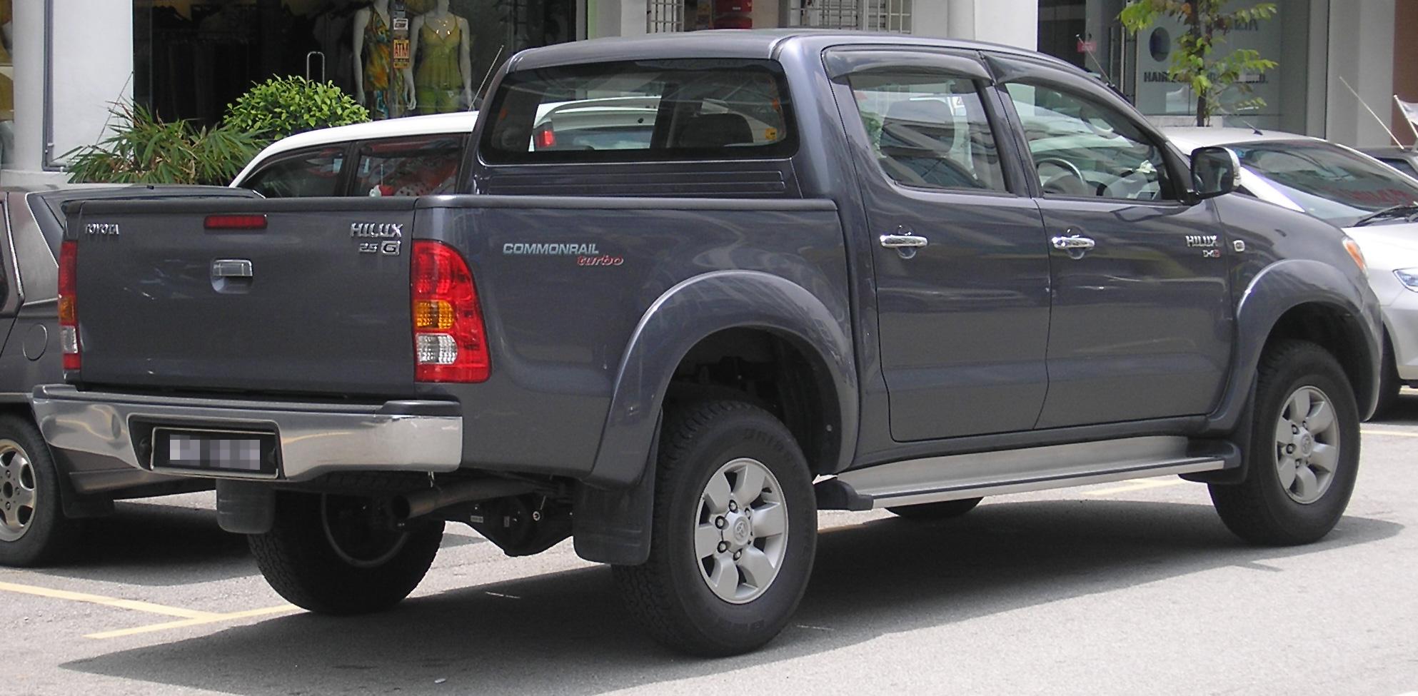 File Toyota Hilux Eighth Generation Rear Serdang Jpg
