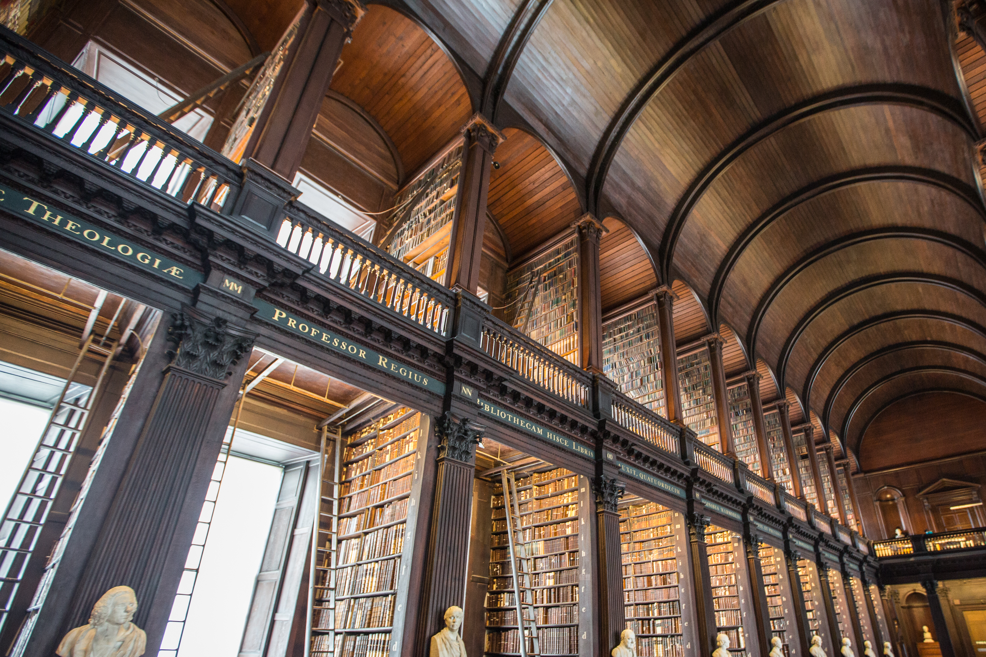 The Long Room In The Old Library Trinity College