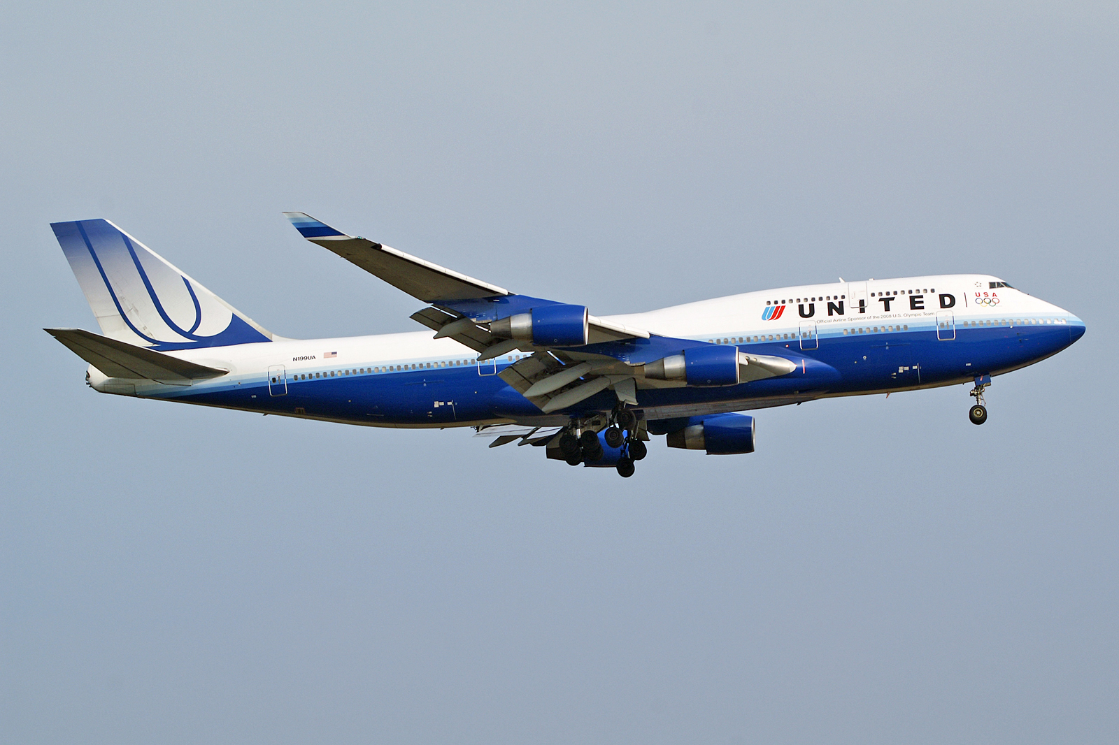 Official Boeing 747 Sticker Blue