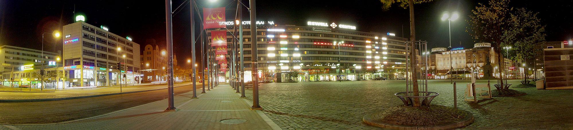 Панорама рыночной площади Ваасы