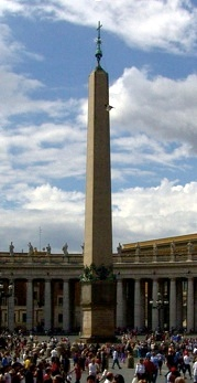 The Vatican Obelisk was first brought from Egypt to Rome by Caligula. It was the centerpiece of a large racetrack he built.