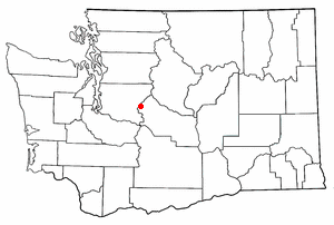 Location of Snoqualmie Pass, Washington