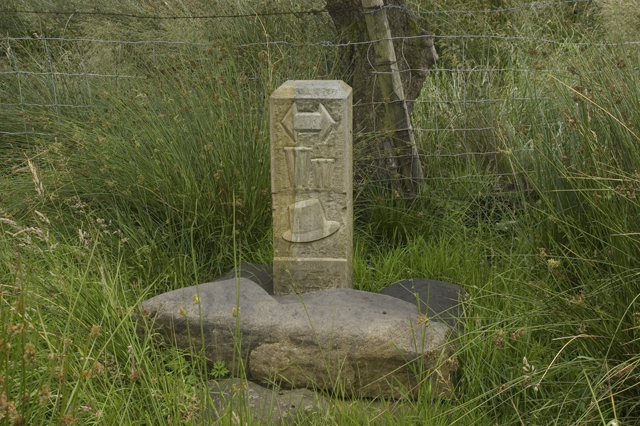 Waymarker on the Wyre Way above Tarnbrook - geograph.org.uk - 1409384