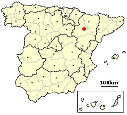 Zaragoza Spain location.png
