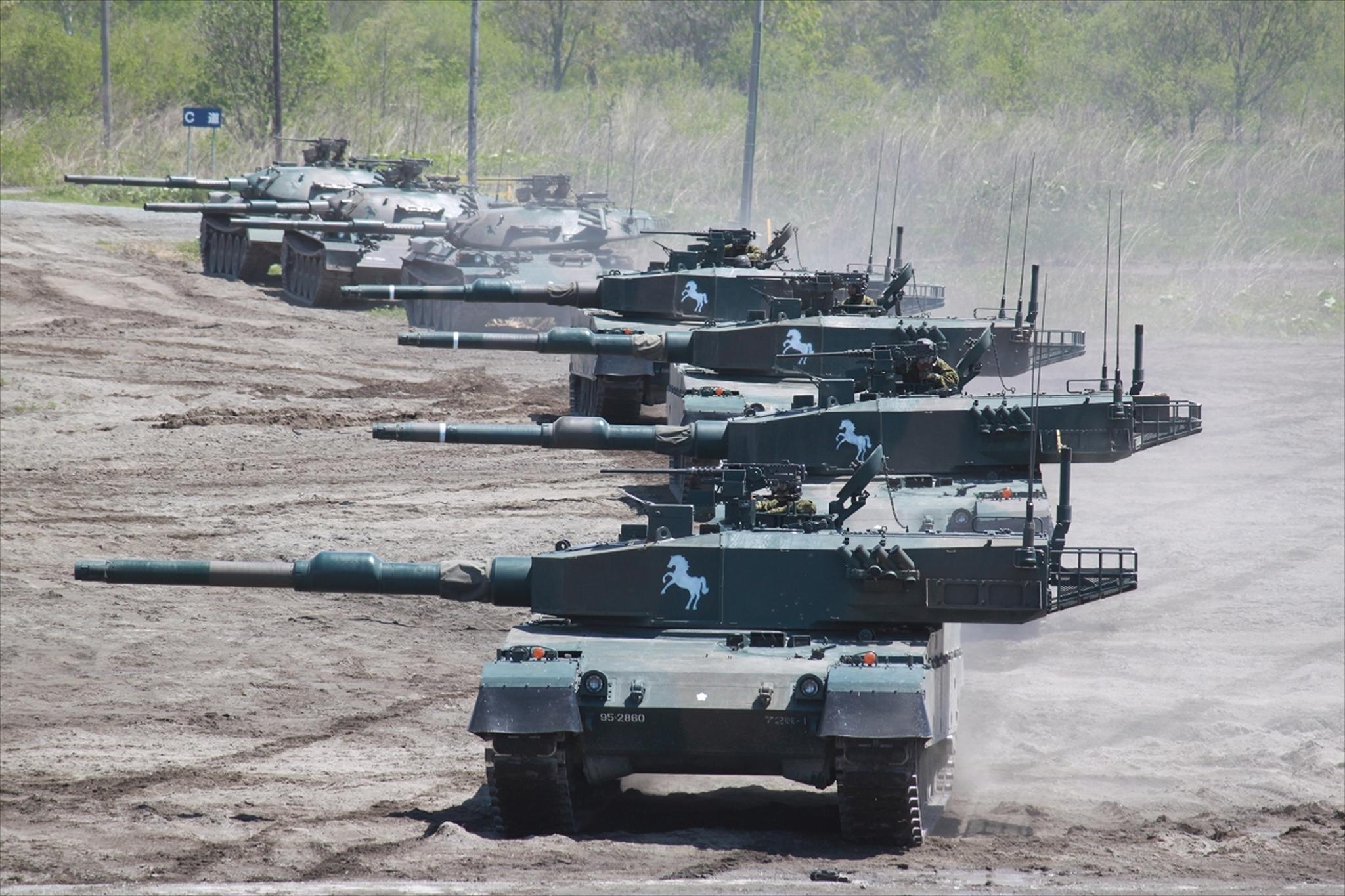 File 90式戦車 24 05 27 72tkr 先遣中隊の攻撃 訓練展示 24 5