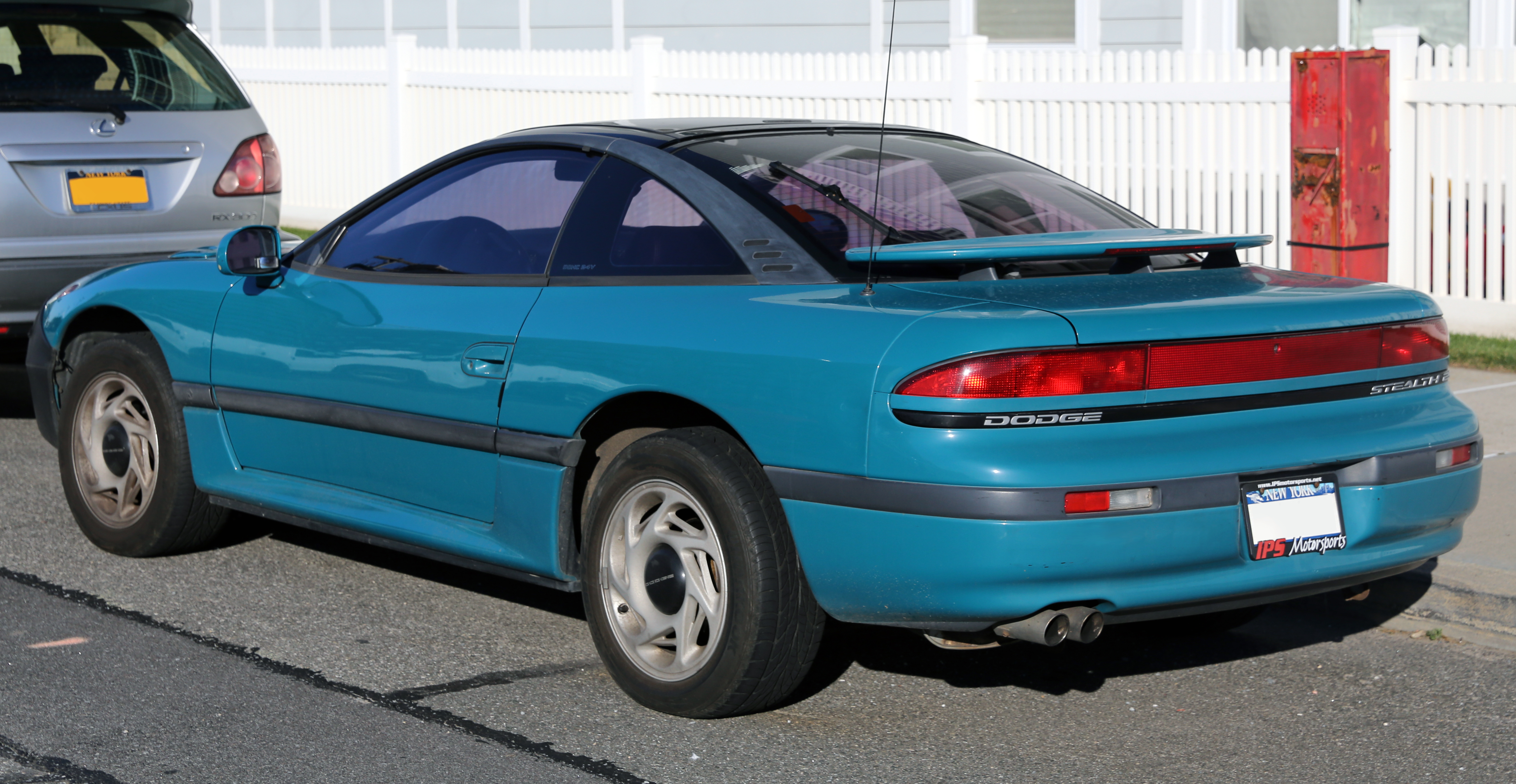 File:1993 Dodge Stealth ES, rear left in turquoise.jpg - Wikimedia Commons