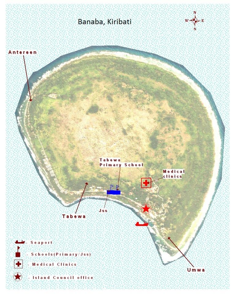 Kiribati Island Map