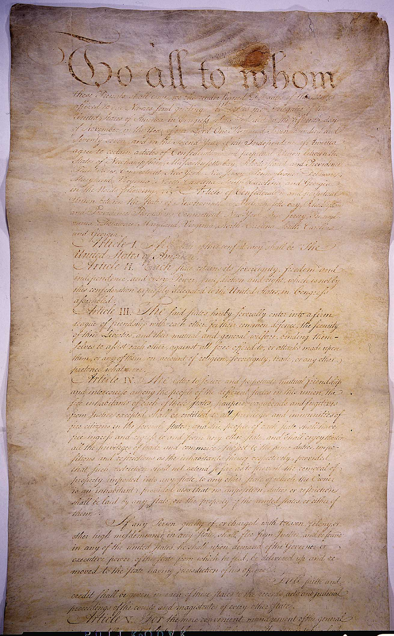 united states articles of confederation