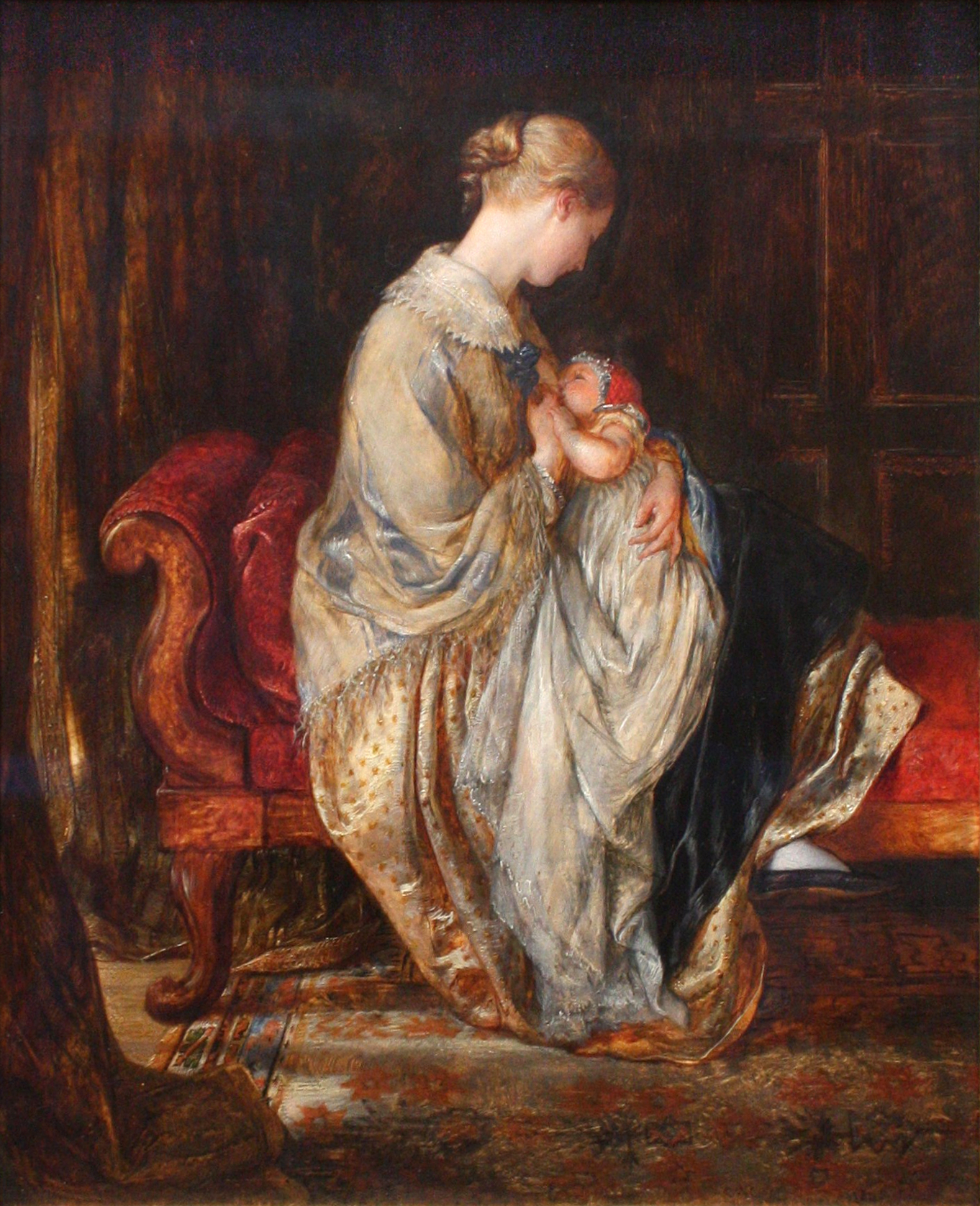 File:BLW 'The Young Mother' by Charles West Cope, 1845.jpg - Wikimedia ...