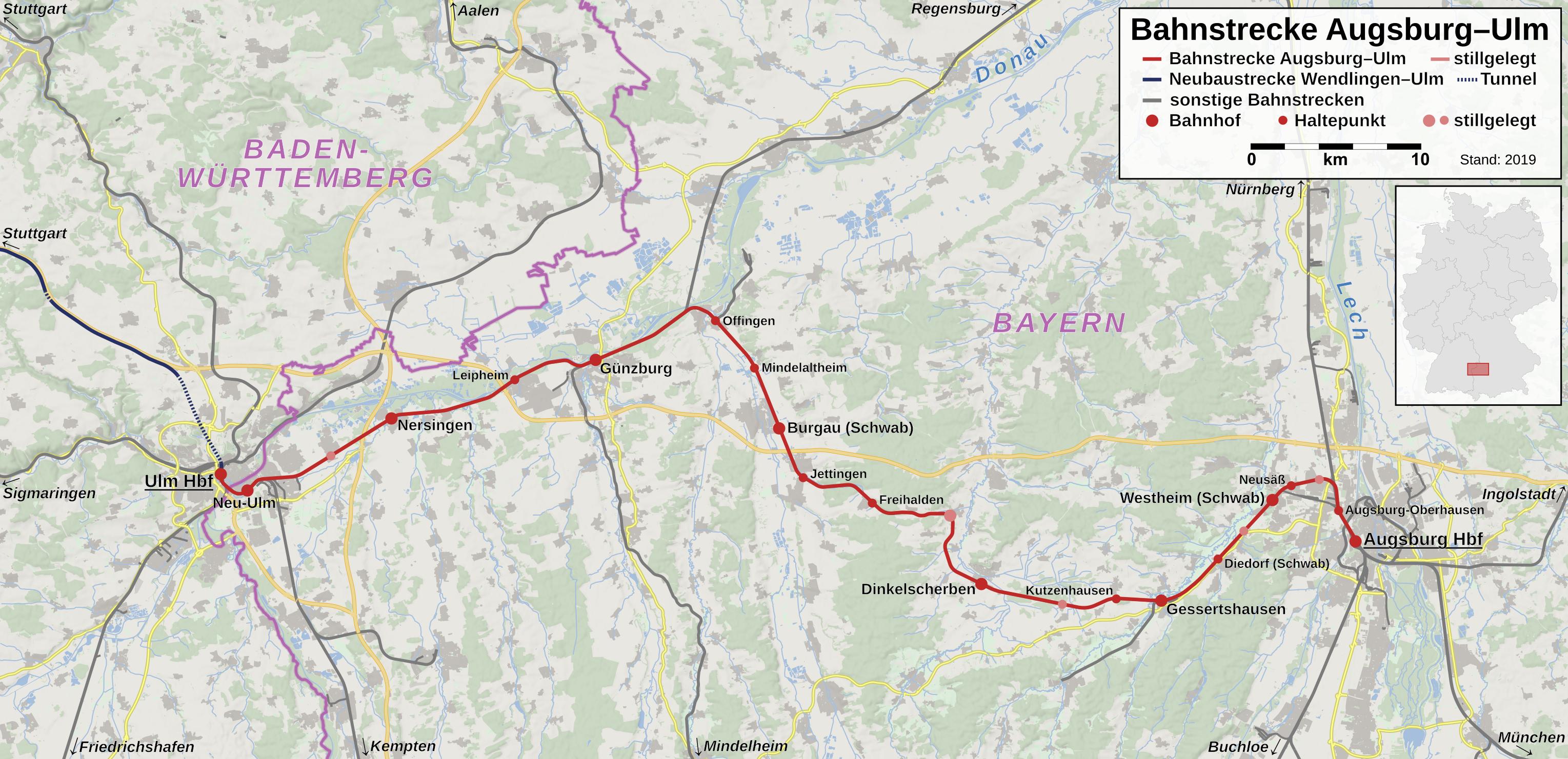 Karte Augsburg.Datei Bahnstrecke Augsburg Ulm Karte Png Wikipedia
