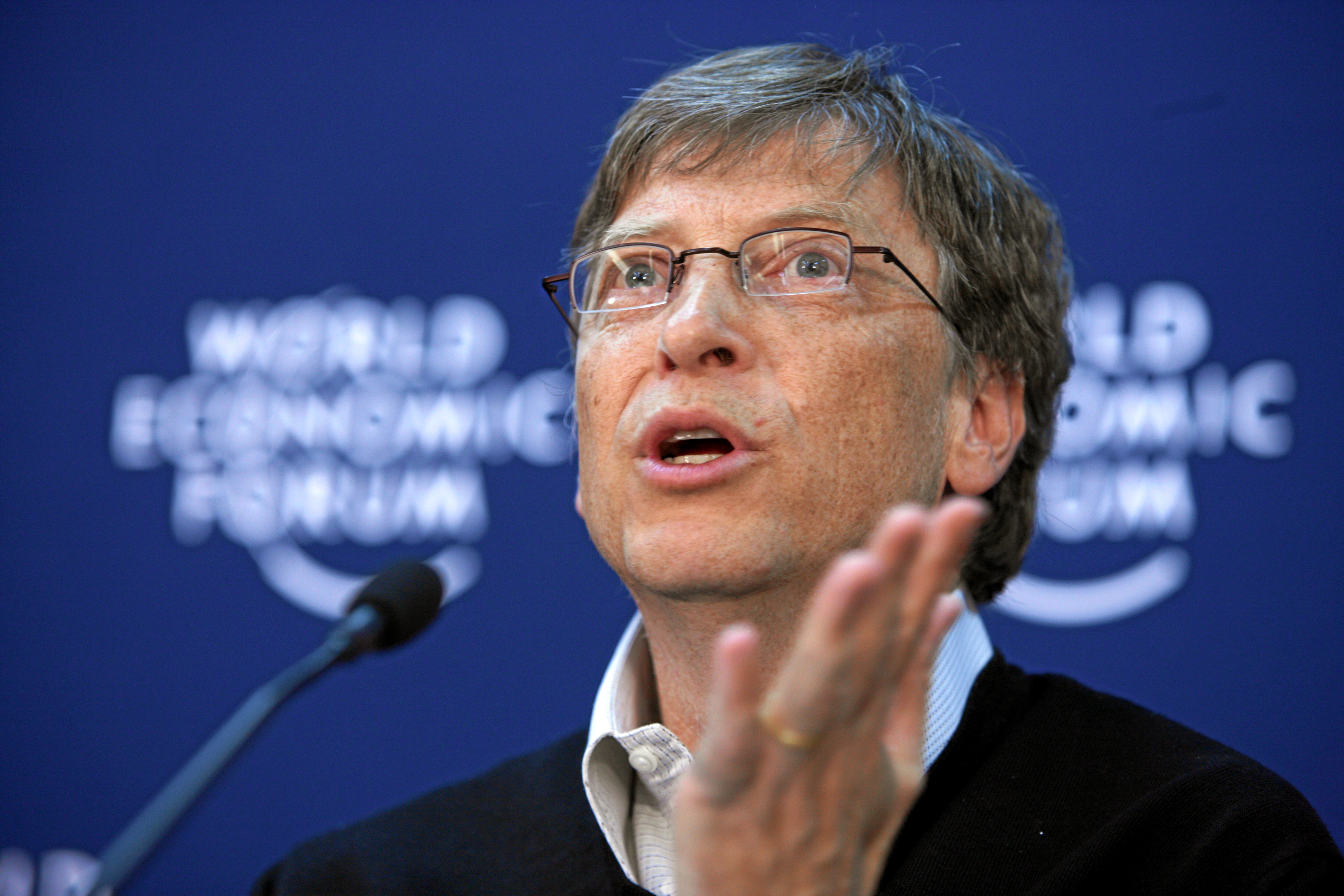 File Bill Gates World Economic Forum Annual Meeting Davos 2008