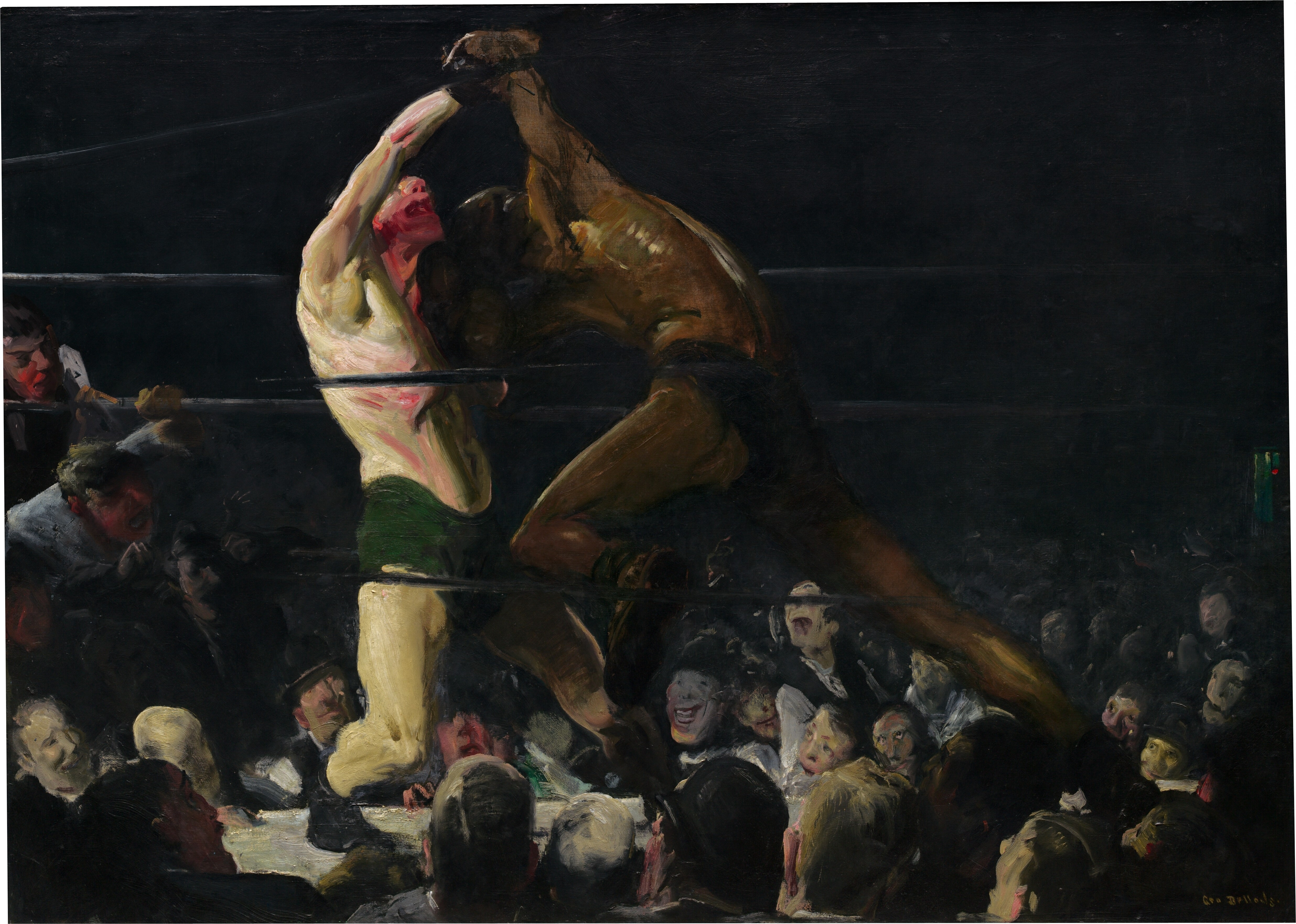 an interpretation of both members of this club a painting by george bellows Start studying both members of this club learn vocabulary, terms, and more with flashcards, games, and other study tools  george bellows' art pressed what types .