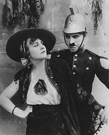 Charlie Chaplin and Edna Purviance in Burlesque on Carmen (1915)