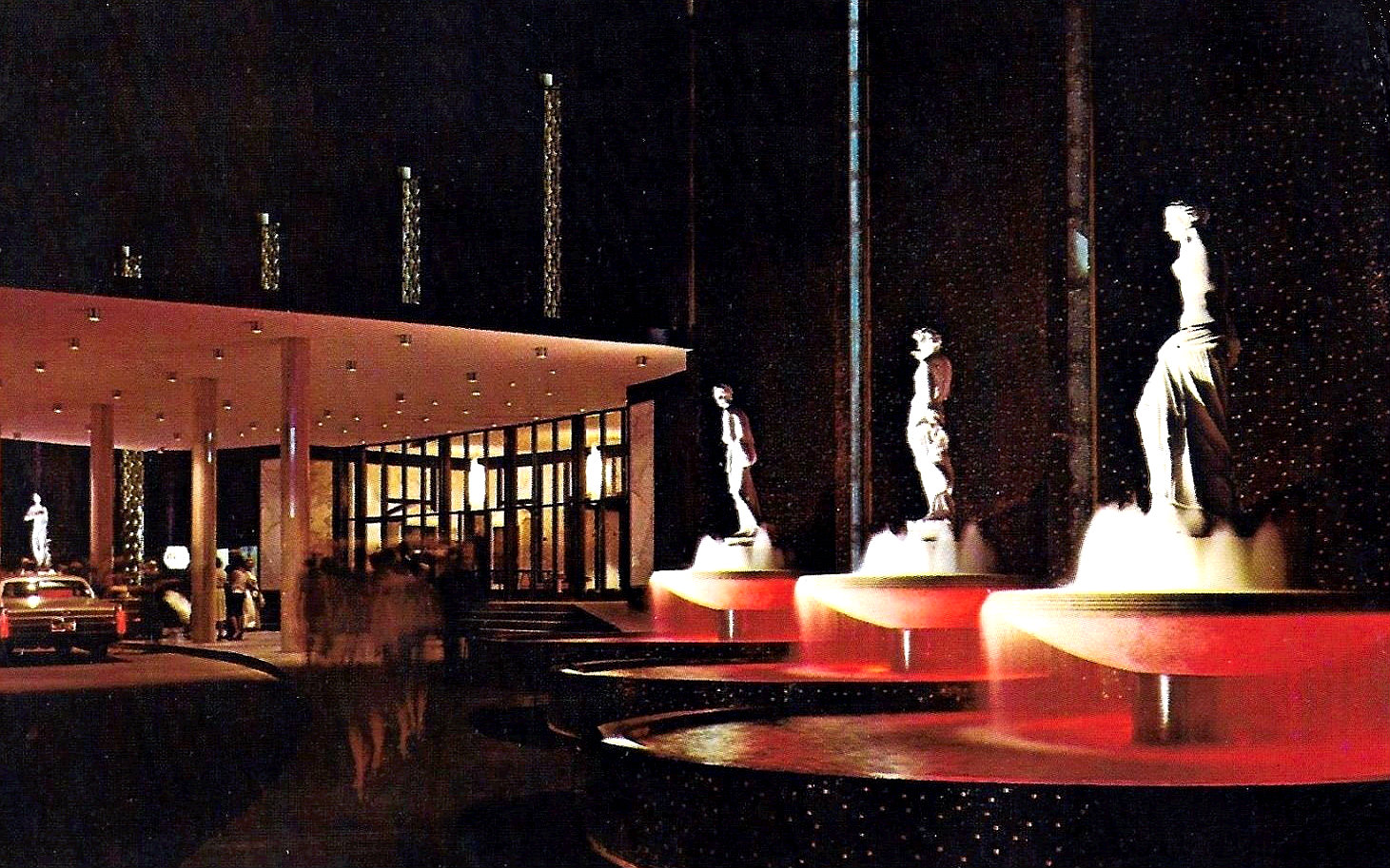 Caesars Palace fountains in 1970 | Las Vegas News Agency